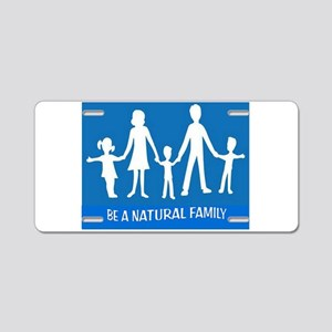 FAMILY FLAG Aluminum License Plate